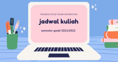 Jadwal Kuliah Semester Ganjil 2021-2022