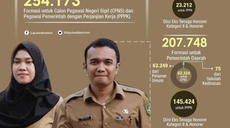 Lowongan besar-besaran CPNS dan PPPK 2019